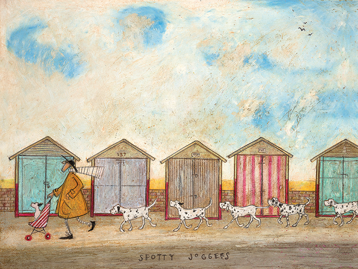 Sam Toft (Spotty Joggers) Canvas Prints