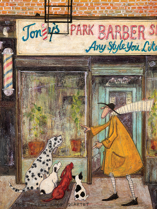 Sam Toft (The Barber Shop Quartet) Canvas Print