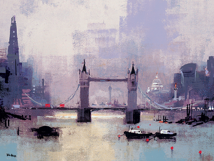 Colin Ruffell (St Paul's and Tower Bridge) Canvas Prints