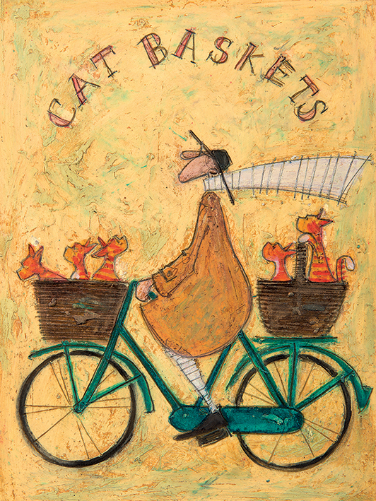 Sam Toft (Cat Baskets) Canvas Prints