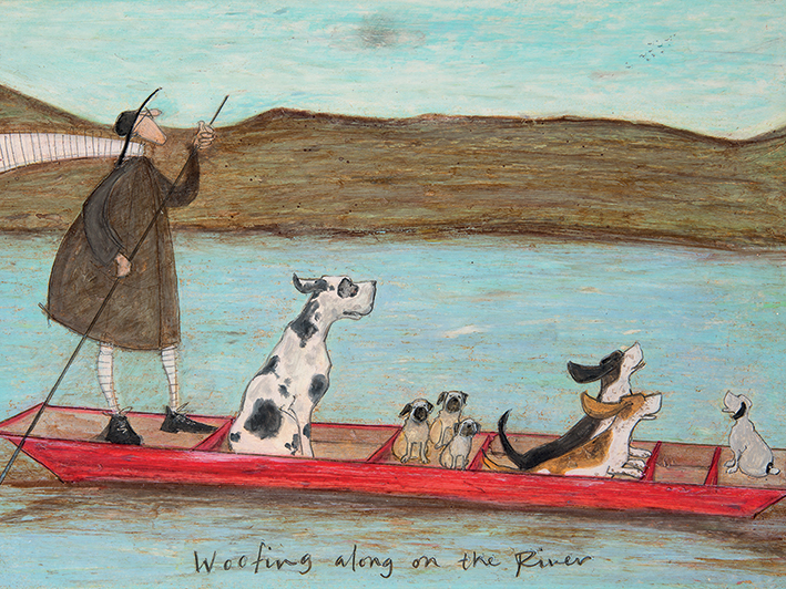 Sam Toft (Woofing along on the River) Canvas Prints