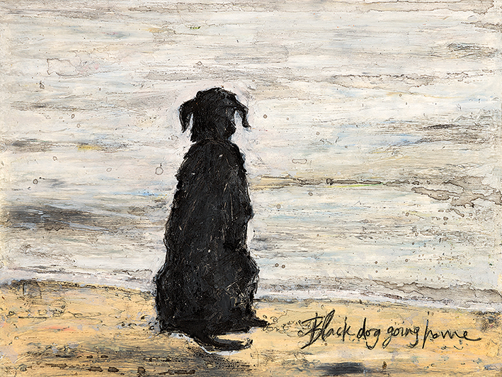Sam Toft (Black Dog Going Home) Canvas Prints
