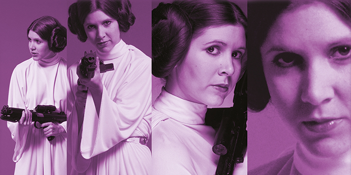 Star Wars (Princess Leia Pose) Canvas Print
