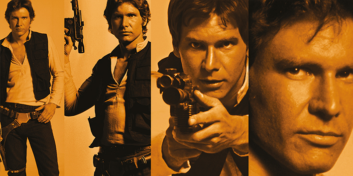 Star Wars (Han Solo Pose) Canvas Print