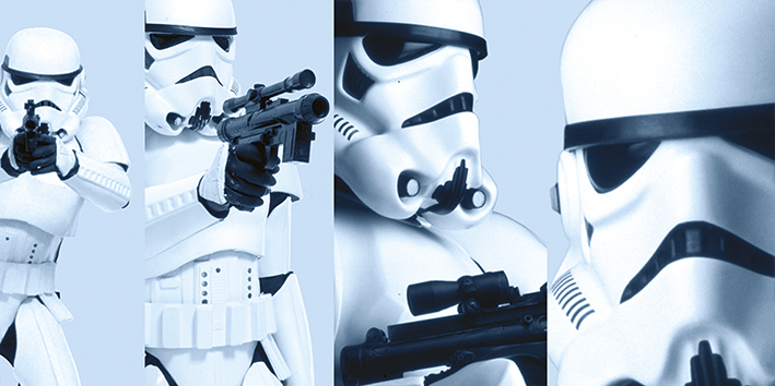 Star Wars (Stormtrooper Pose) Canvas Print