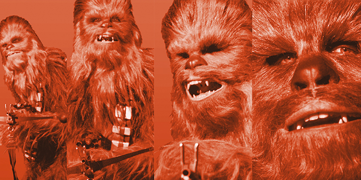 Star Wars (Chewbacca Pose) Canvas Print