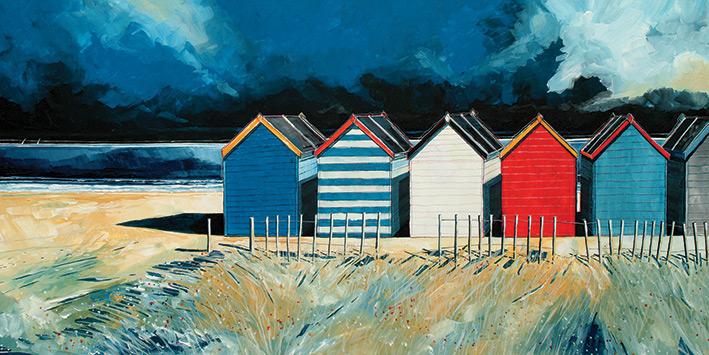 Stuart Roy (Beach Huts and Beach II) Canvas Prints