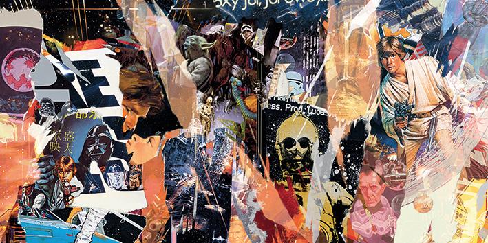 Star Wars (Ripped) Canvas Print