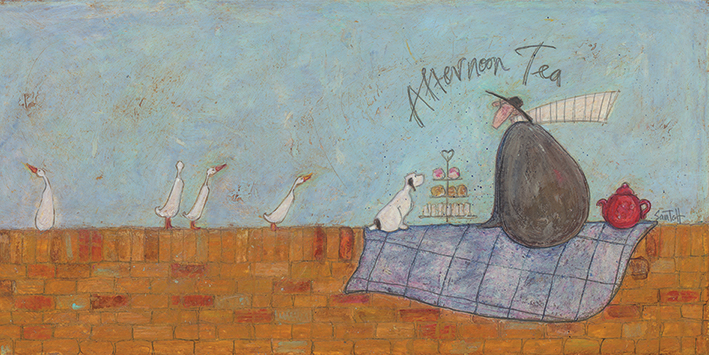 Sam Toft (Afternoon Tea) Canvas Print