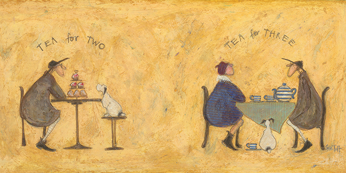 Sam Toft (Tea for Two Tea for Three) Canvas Print