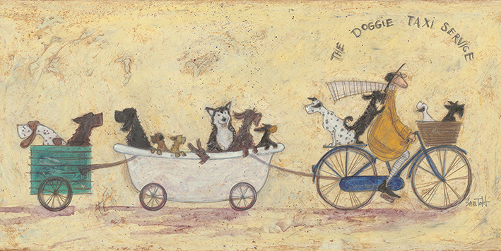 Sam Toft (The Doggie Taxi Service) Canvas Print