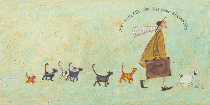 Sam Toft (The Suitcase of Sardine Sandwiches) Canvas Print