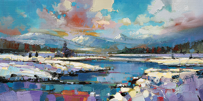 Scott Naismith (Glen Spean Snow) Canvas Print