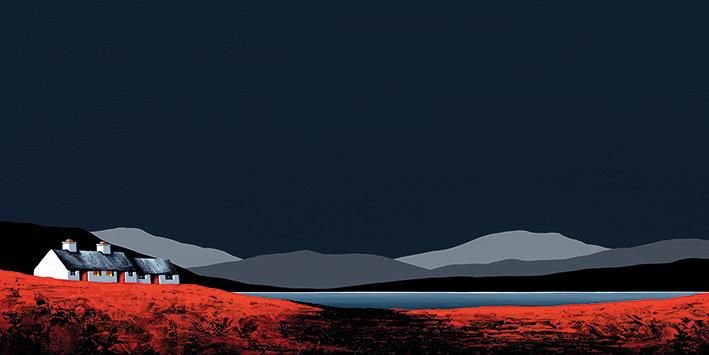 Jay Nottingham Curlew Cottage Art Print PPR41231   size 50 x 100cm