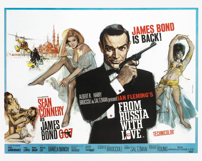 James Bond (From Russia With Love - Painting) Canvas Prints