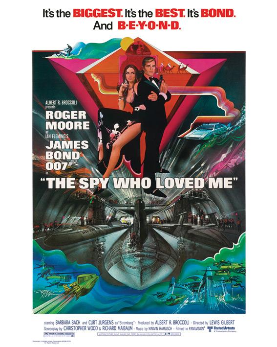 James Bond (The Spy Who Loved Me) Canvas Prints
