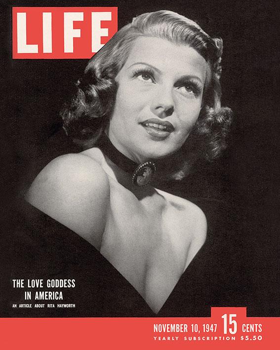 Time Life (Life Cover - Rita Hayworth) Canvas Print