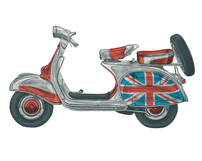 Barry Goodman (Vespa) Canvas Prints