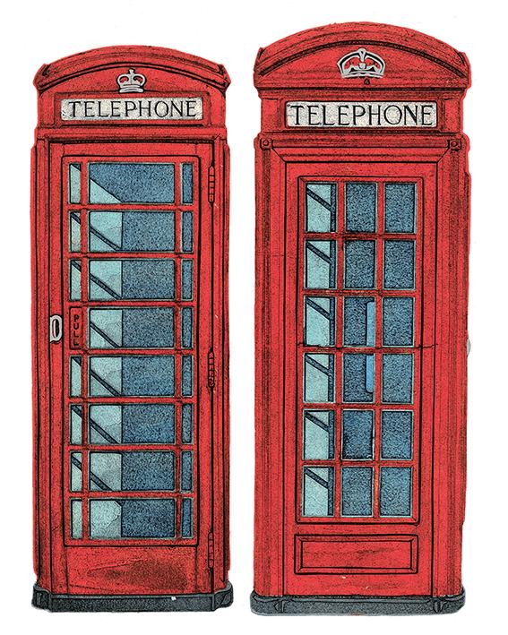 Barry Goodman (Telephone Boxes) Canvas Prints