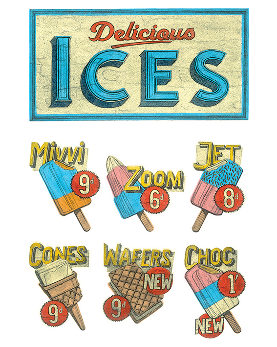 Barry Goodman (Delicious Ices) Canvas Prints