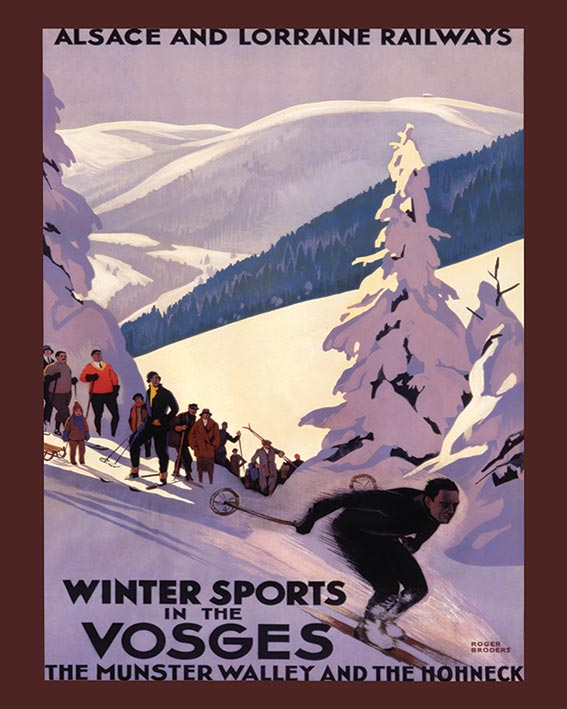 Winter Sports In The Vosges Canvas Prints