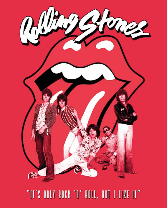 Rolling Stones (It's Only Rock n Roll) Canvas Print
