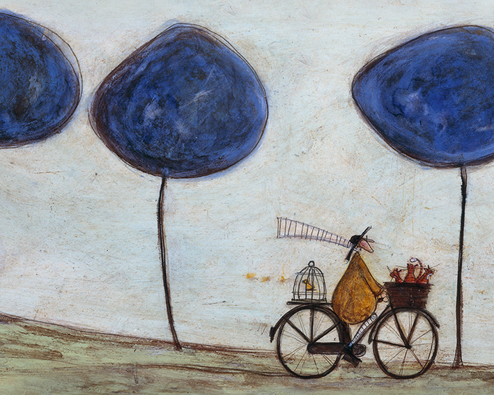 Sam Toft (Freewheelin' with Joyce Greenfields and the Felix 3) Canvas Print