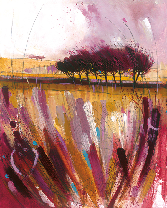 Simon Howden (Through the Bracken in Mauve) Canvas Prints