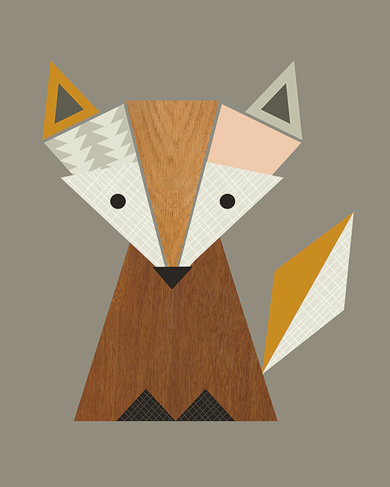 Little Design Haus Geometric Pear Art Print  PPR43205 size  40 x 50cm