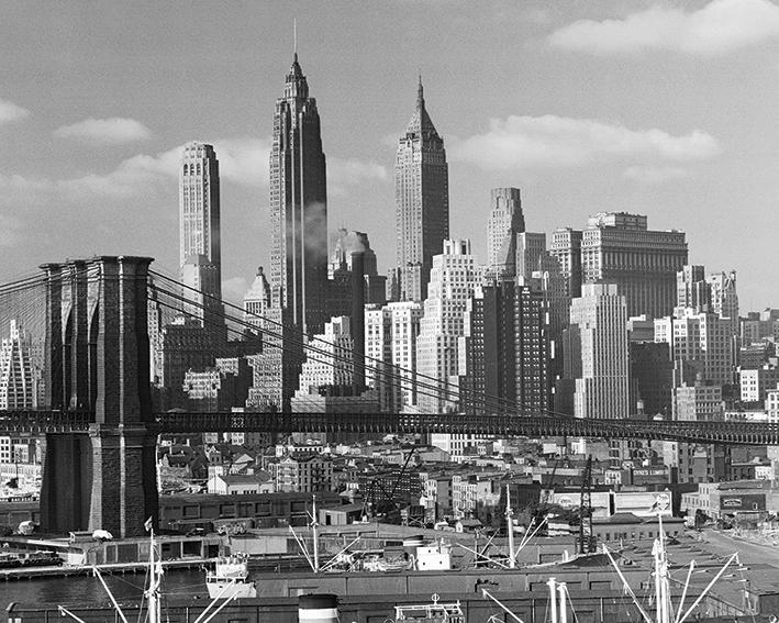 Time Life (Lower Manhattan Skyline 1948) Canvas Print