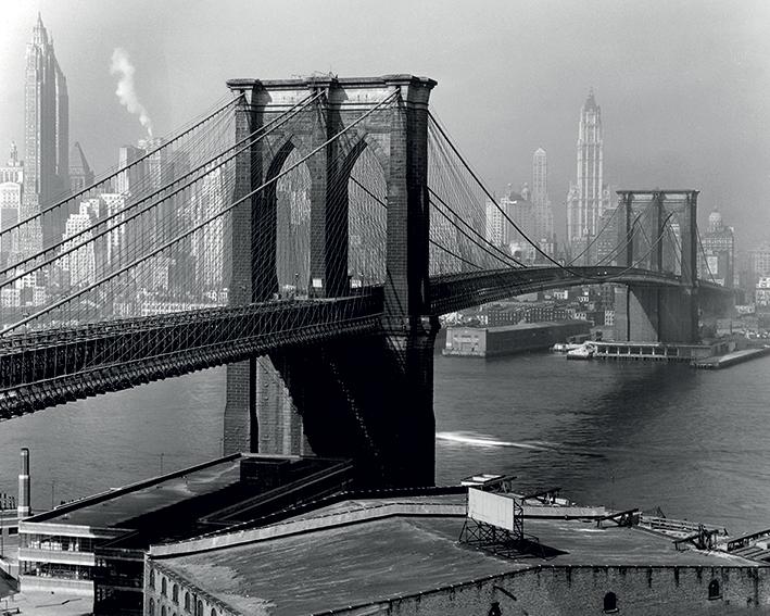 Time Life (Brooklyn Bridge, New York 1946) Canvas Print