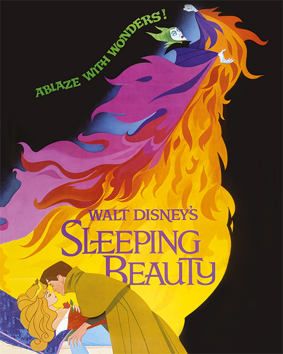 Sleeping Beauty (Ablaze) Canvas Print
