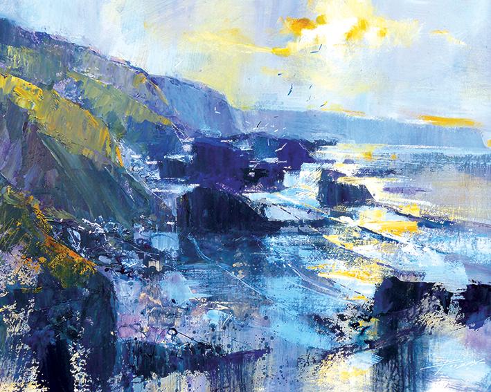 Chris Forsey (Tregardock Beach, December) Canvas Print
