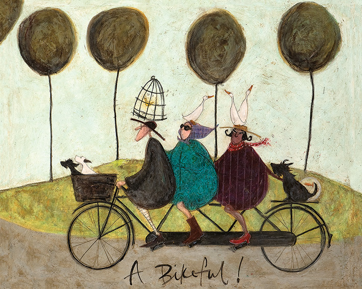 Sam Toft (A Bikeful!) Canvas Prints