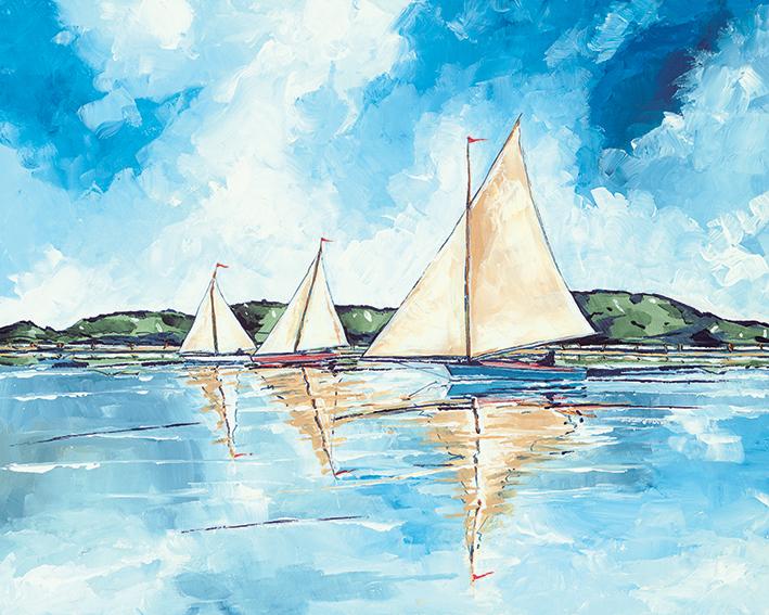 Stuart Roy (Three Boats) Canvas Print