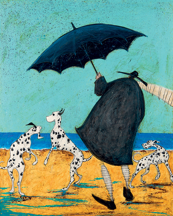 Sam Toft (On Jack's Beach) Canvas Prints