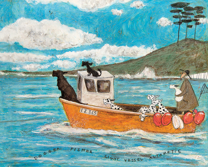 Sam Toft (Dogger, Fisher, Light Vessel Automatic) Canvas Prints