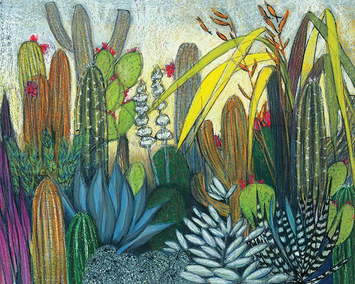 Shyama Ruffell (Succulents) Canvas Print