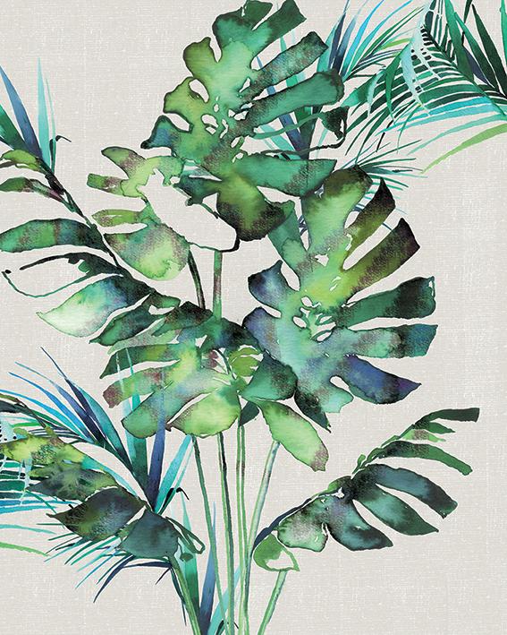 Summer Thornton (Monstera Leaves) Canvas Print