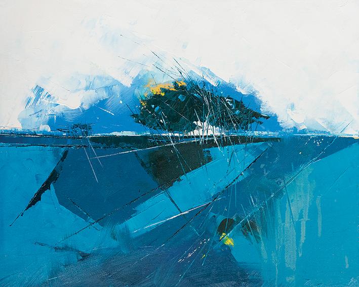 Simon Howden (Blue Copse) Canvas Print