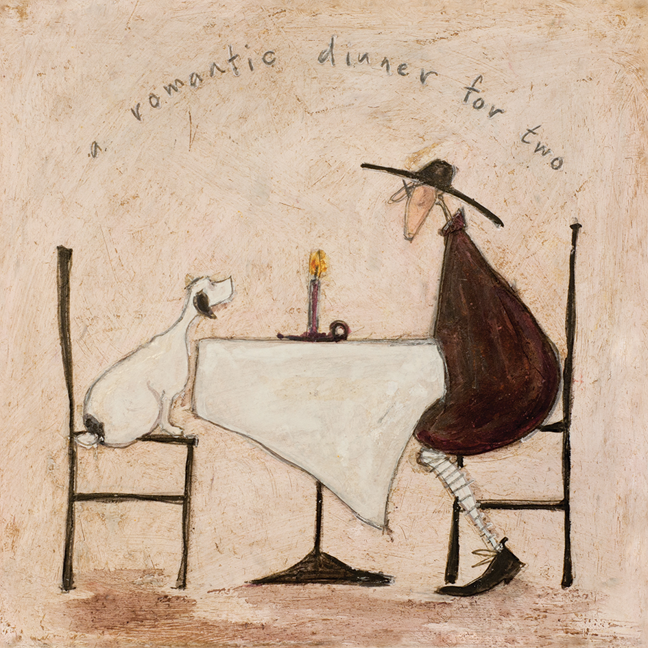 Sam Toft (A Romantic Dinner For Two) Canvas Prints