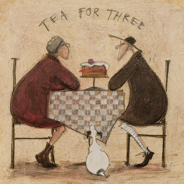 Sam Toft (Tea for Three 2) Canvas Print