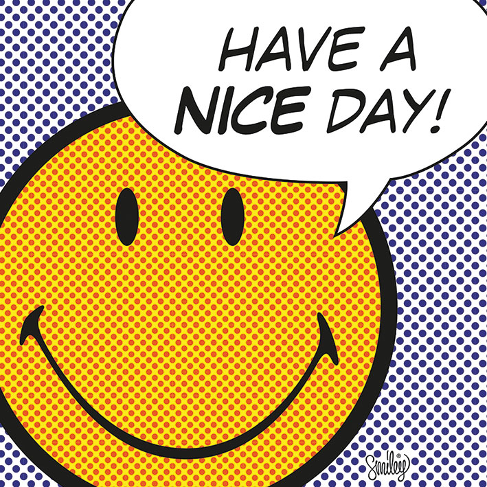 Smiley (Have A Nice Day - Dots) Canvas Prints