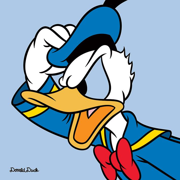 Donald Duck (Blue) Canvas Prints