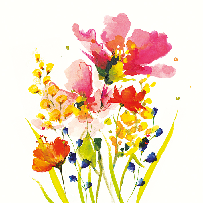 Nicola Evans (Summer Bouquet) Canvas Print