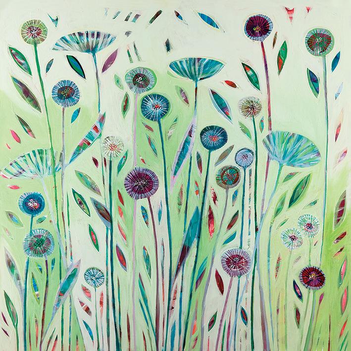 Shyama Ruffell (Green Dreams) Canvas Print