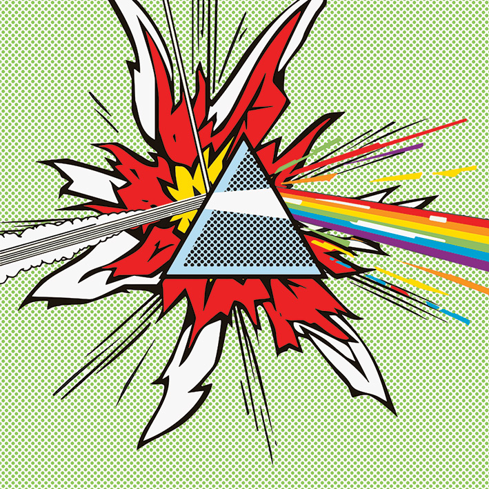 Pink Floyd (Dark Side Of The Moon - Pop Art) Canvas Prints