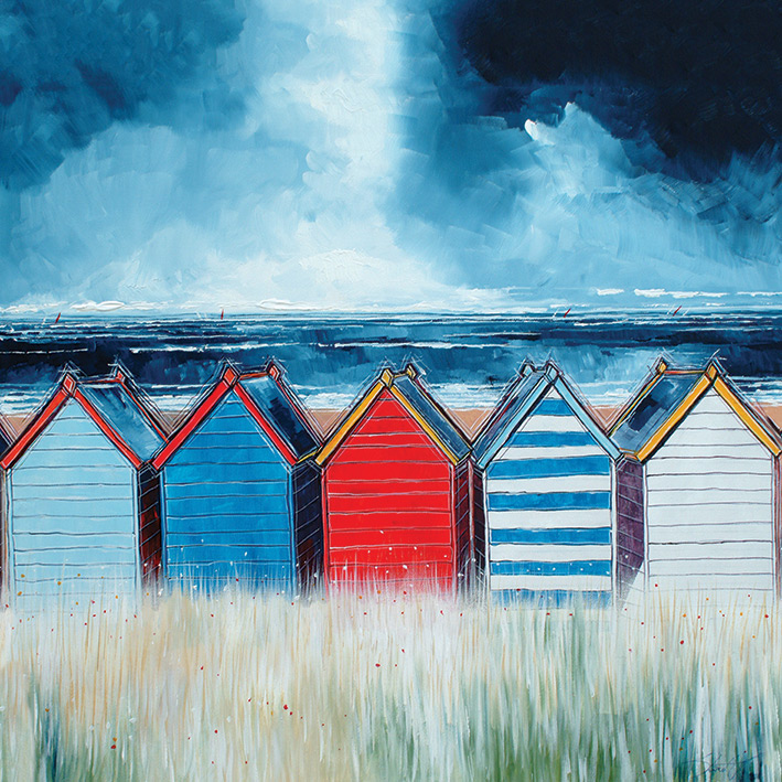 Stuart Roy (Beach Huts I) Canvas Prints
