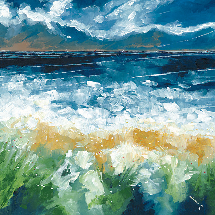 Stuart Roy (Sea and Blue Sky IV) Canvas Prints