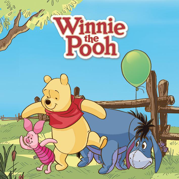 Winnie The Pooh (Balloon) Canvas Print